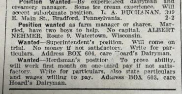 Hoard's Dairyman Ad